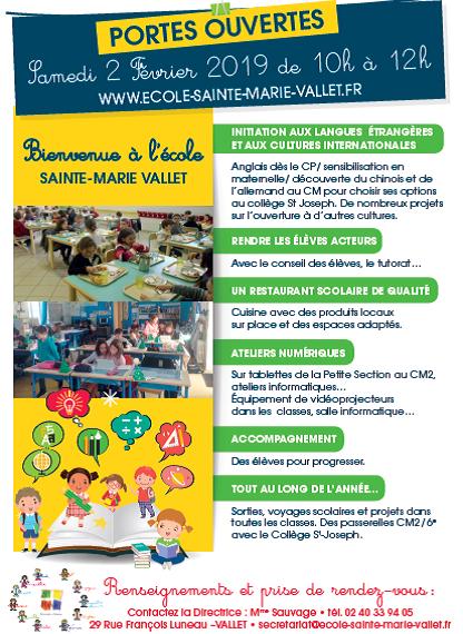 Coloriage Ecole Cantine.Ecole Sainte Marie Vallet